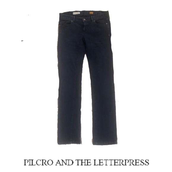 Pilcro and the Letterpress Denim - Pilcro letterpress low rise straight Denim Jeans